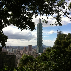 Taipei 101 building from Elephant Mountain